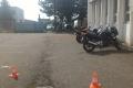 S žáky u zkoušek - závěrečné zkoušky motocyklů na Librosu
